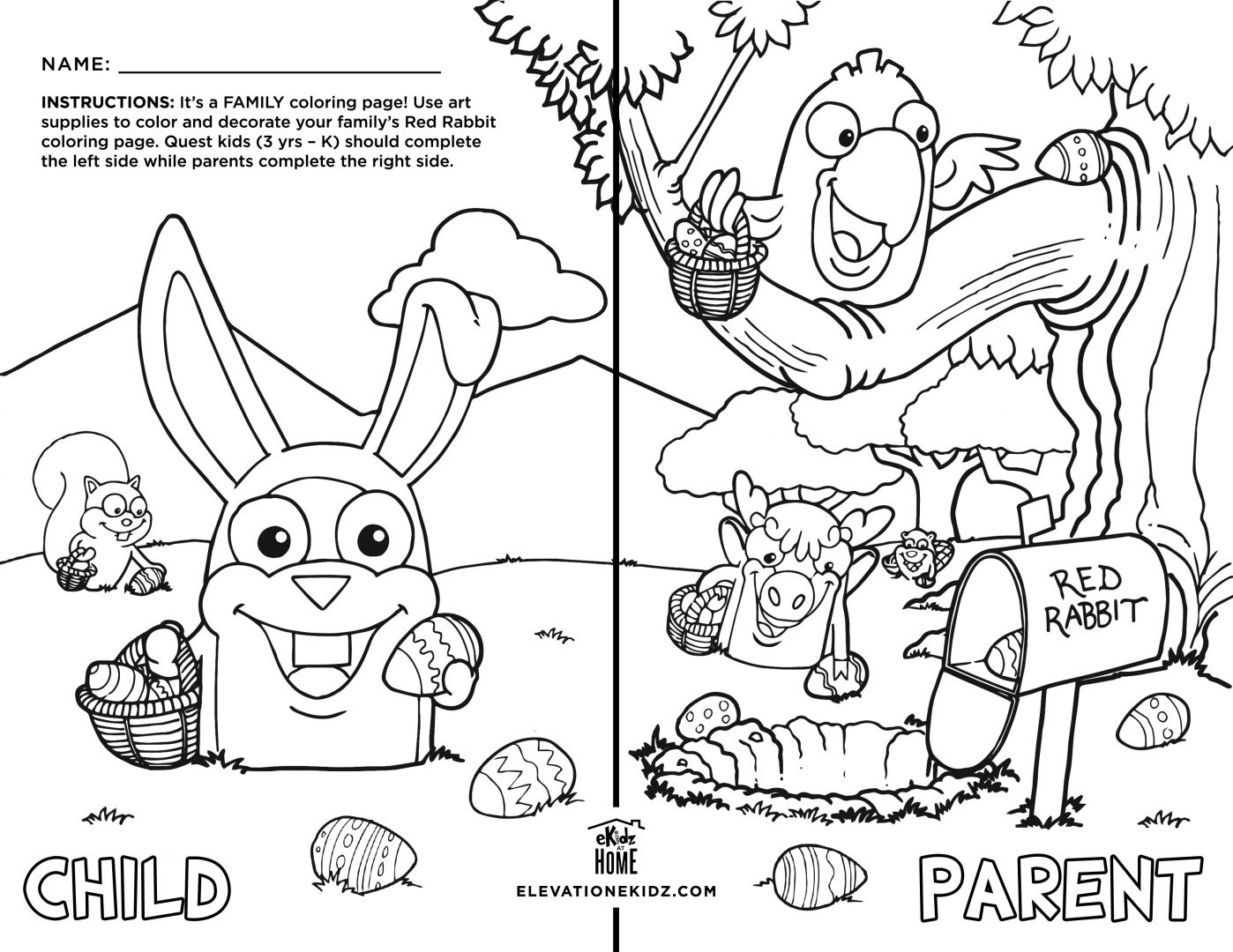 Elevation Church Coloring Page - Master Coloring Pages