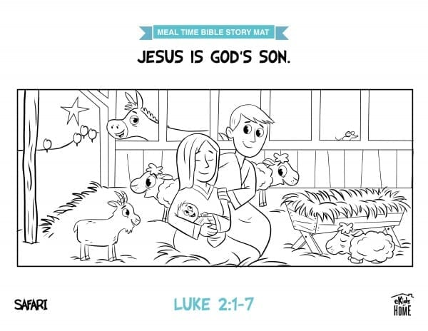Meal Time Bible Story Mat | Week 1