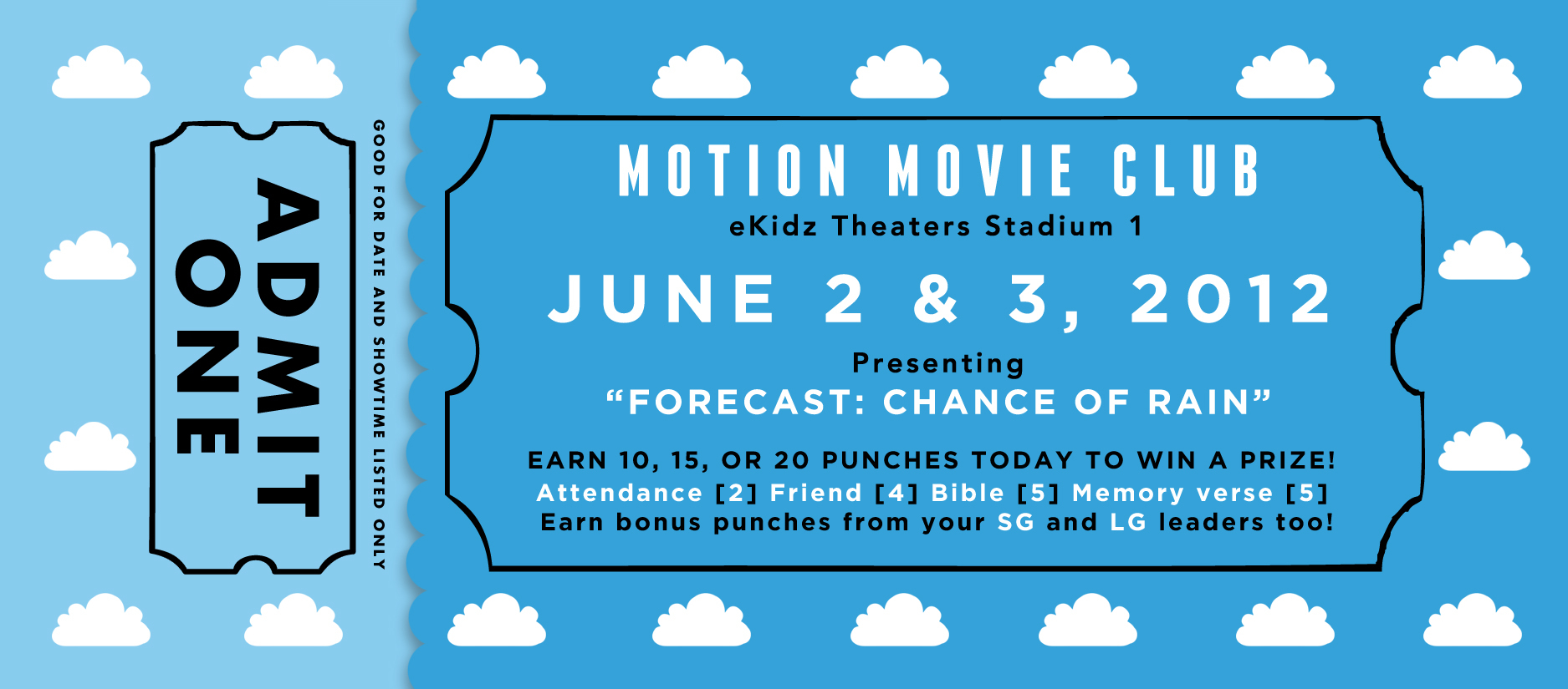 Kids will earn punches on their movie tickets each weekend to win a ...